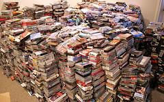 Pile of VHSs from Flickr User  makelessnoise