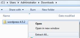 Extracting WordPress Files