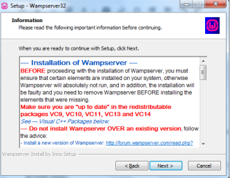 WAMP Install C++ Message
