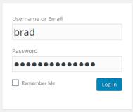 Wordpress initial login