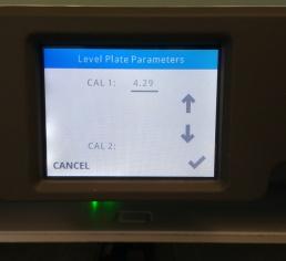 Z-Gap Parameters Menu